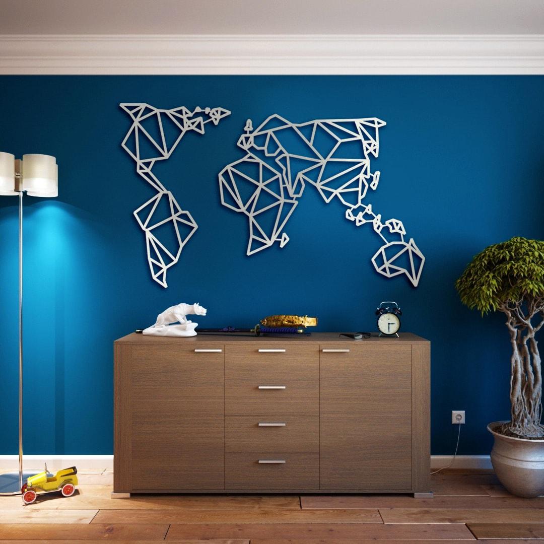 Деревянная карта мира на стену купить