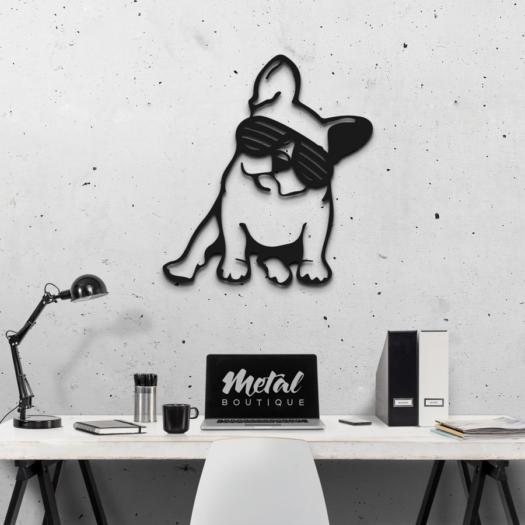 Бульдог: металлическое панно на стену