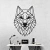 Волк: декор из металла на стену