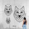 Волк: настенная декорация из металла