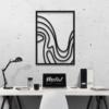 Волна: металлическое панно на стену