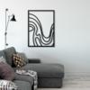 Волна: металлический декор на стену