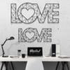 Love: надпись из металла на стену