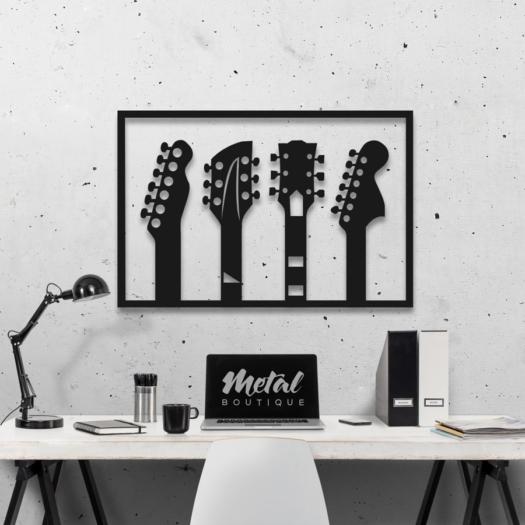 Гитары: панно из металла на стену