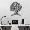 Дерево: панно из стали на стену