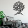 Дерево: панно из стали