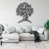 Дерево: металлическое панно на стену