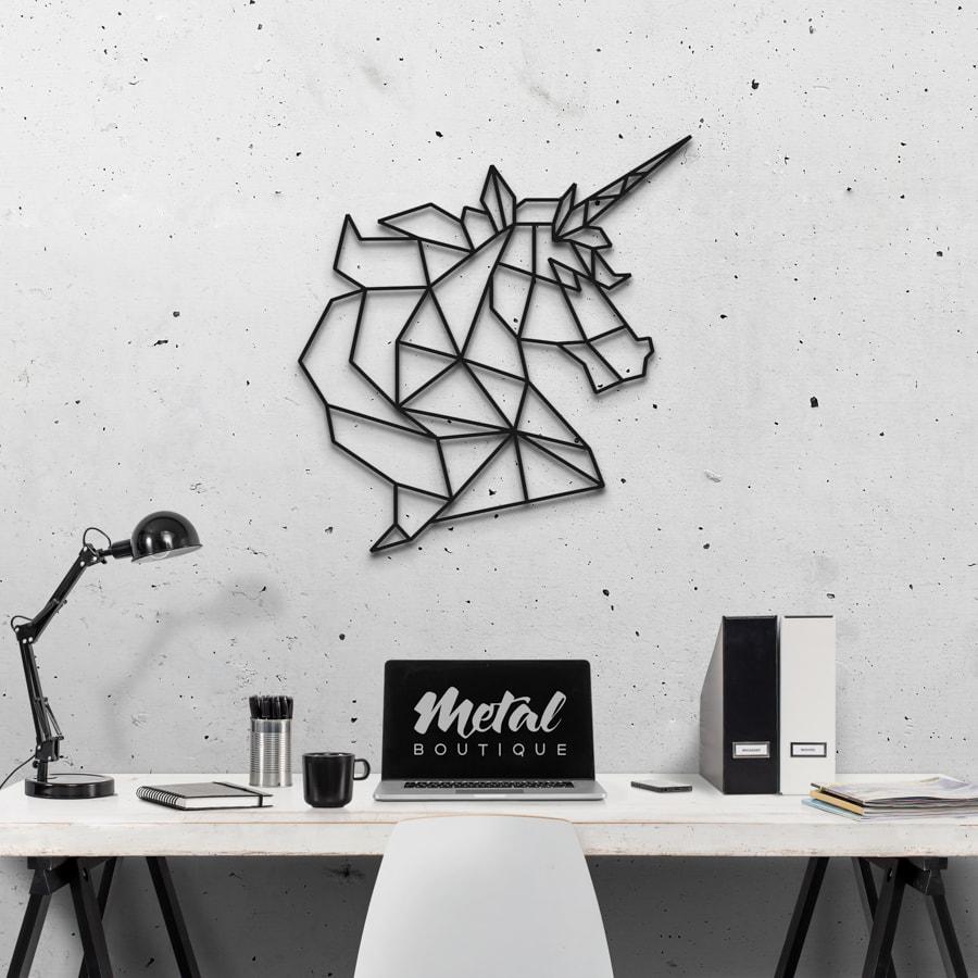 Единорог: настенный декор из металла