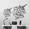 Единорог: металлическое панно на стену