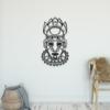 Этническая маска Voodoo: металлическое панно на стену