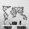 Карта Мира: декор из металла на стену