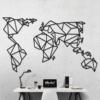 Карта Мира: геометрическое панно на стену