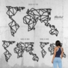 Карта Мира: декоративное панно из металла