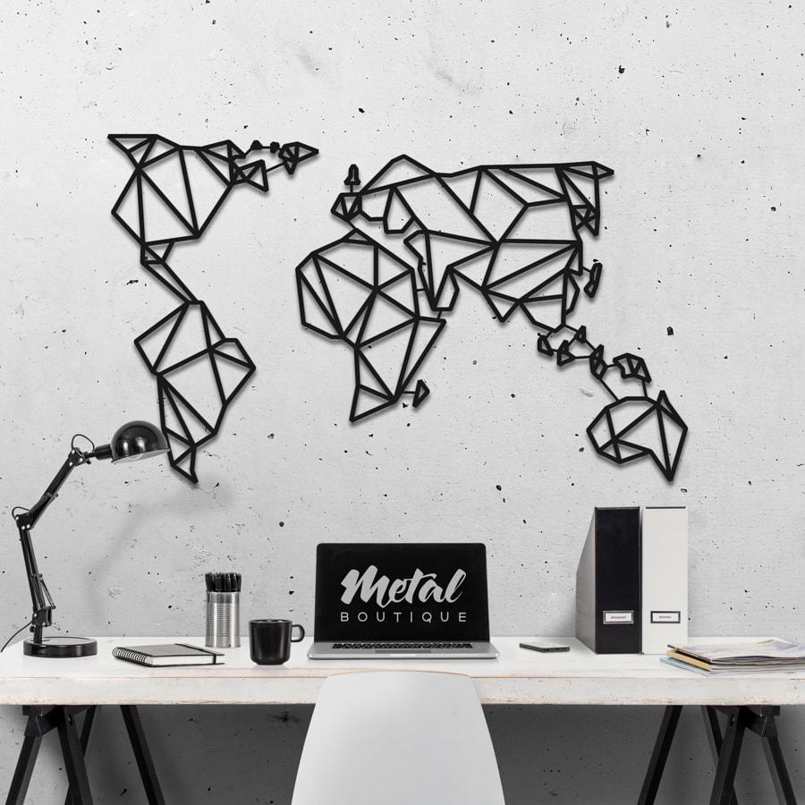 Карта Мира: декор на стену