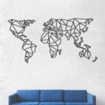 Карта Мира XXXL: настенная декорация из металла