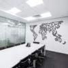 Карта Мира XXXL: панно из металла на стену