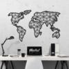 Карта Мира Petal: настенное украшение из металла на стену