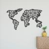 Карта Мира Petal: геометрическое панно на стену