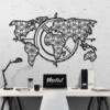 Карта Мира Voyager: геометрическое панно на стену