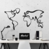 Карта Мира Сanvas: настенное украшение из металла на стену