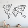 Карта Мира Faces: геометрическое панно на стену