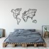 Карта Мира Faces: настенное украшение из металла на стену