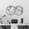 Карта Мира Globe: декоративное панно из металла