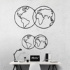 Карта Мира Globe: геометрическое панно на стену