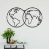 Карта Мира Globe: декор из металла на стену