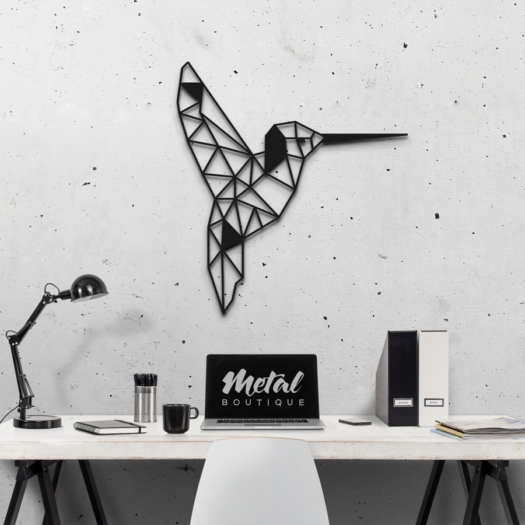 Колибри: декоративное панно из металла