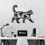 Кот: панно из металла на стену