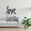 Кот: декор из металла на стену