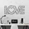 Love: металлическая надпись на стену