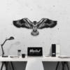 Орел: декор из металла на стену