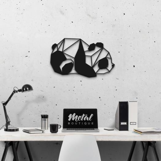 Панда: декор из металла на стену