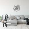 Роза: металлическая фигура на стену
