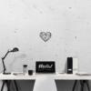Сердце: фигура из металла на стену