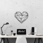Сердце: металлическое панно на стену