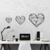 Сердце: украшение из металла на стену