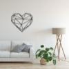 Сердце: металлическая фигура на стену