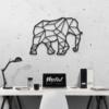 Слон: настенный декор из металла
