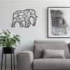 Слон: геометрическое панно на стену