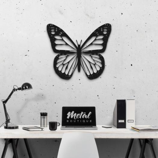 Бабочка Salvador: металлическое панно на стену