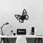 Бабочка Bogota: декоративное панно из металла