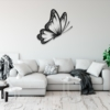 Бабочка Santiago: настенное украшение из металла на стену