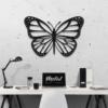 Бабочка Lima: декоративное панно из металла