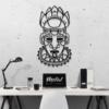Этническая маска Voodoo: панно из металла на стену