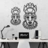 Этническая маска Voodoo: настенная декорация из металла