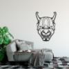 Этническая маска Kabuki: настенное украшение из металла на стену