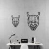 Этническая маска Kabuki: декор из металла